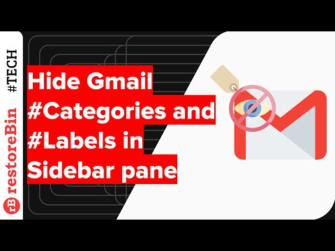 Show and Hide Gmail Categories Tabs and Sidebar Label in Gmail UI