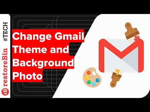 Change Gmail Theme, Background Photo, and Apply Dark Theme Color