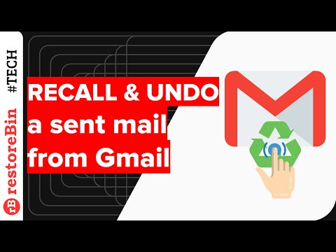 Quickly RECALL or UNDO a Sent Email from Gmail