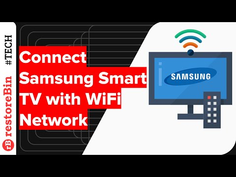How to connect Samsung Smart TV to an internet WiFi connection? 📺