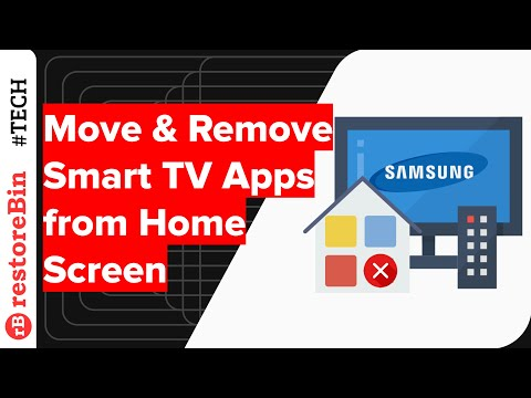 How to Move or Remove apps on Samsung Smart TV Home screen?