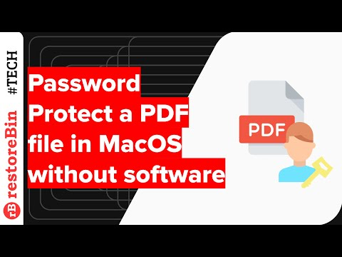 Quickly Password Protect PDF Files in Mac OS without any Software