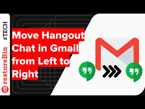 Move Gmail Hangout Chat Location from Left Sidebar to Right-Side