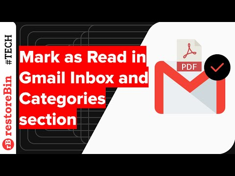 Mark as Read in Gmail Inbox and Category Section at Once