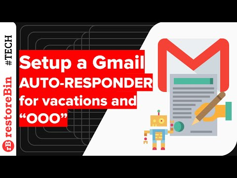 Setup Gmail Auto-Responder for Vacation and Out-of-Office Status
