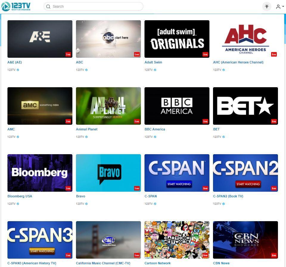 123 TV Channels