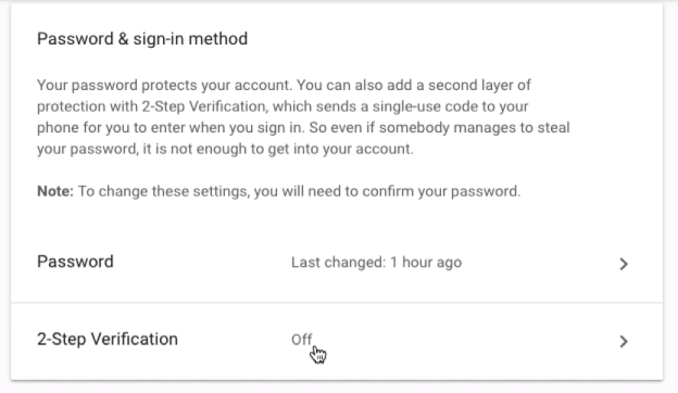 2-Step Verification Google Account