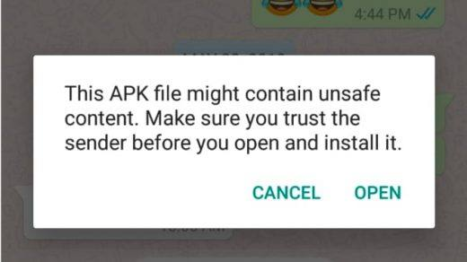 APK has No Safe Content