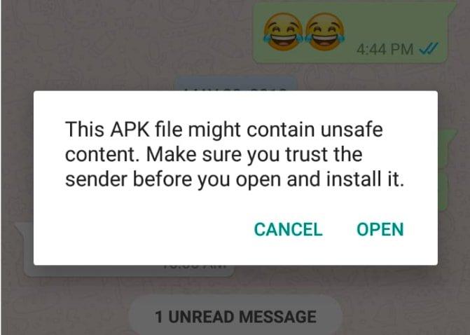 APK has No Safe Content