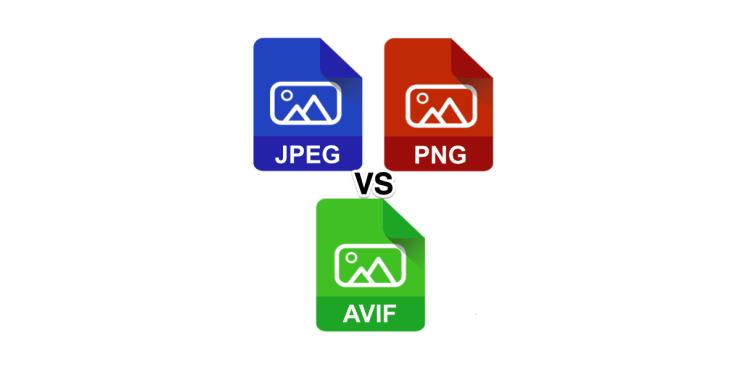 AVIF VS JPEG Vs PNG