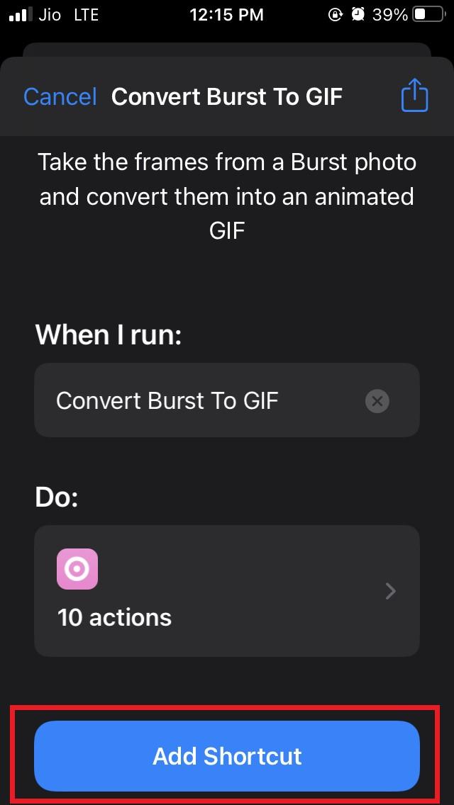 Add Shortcuts