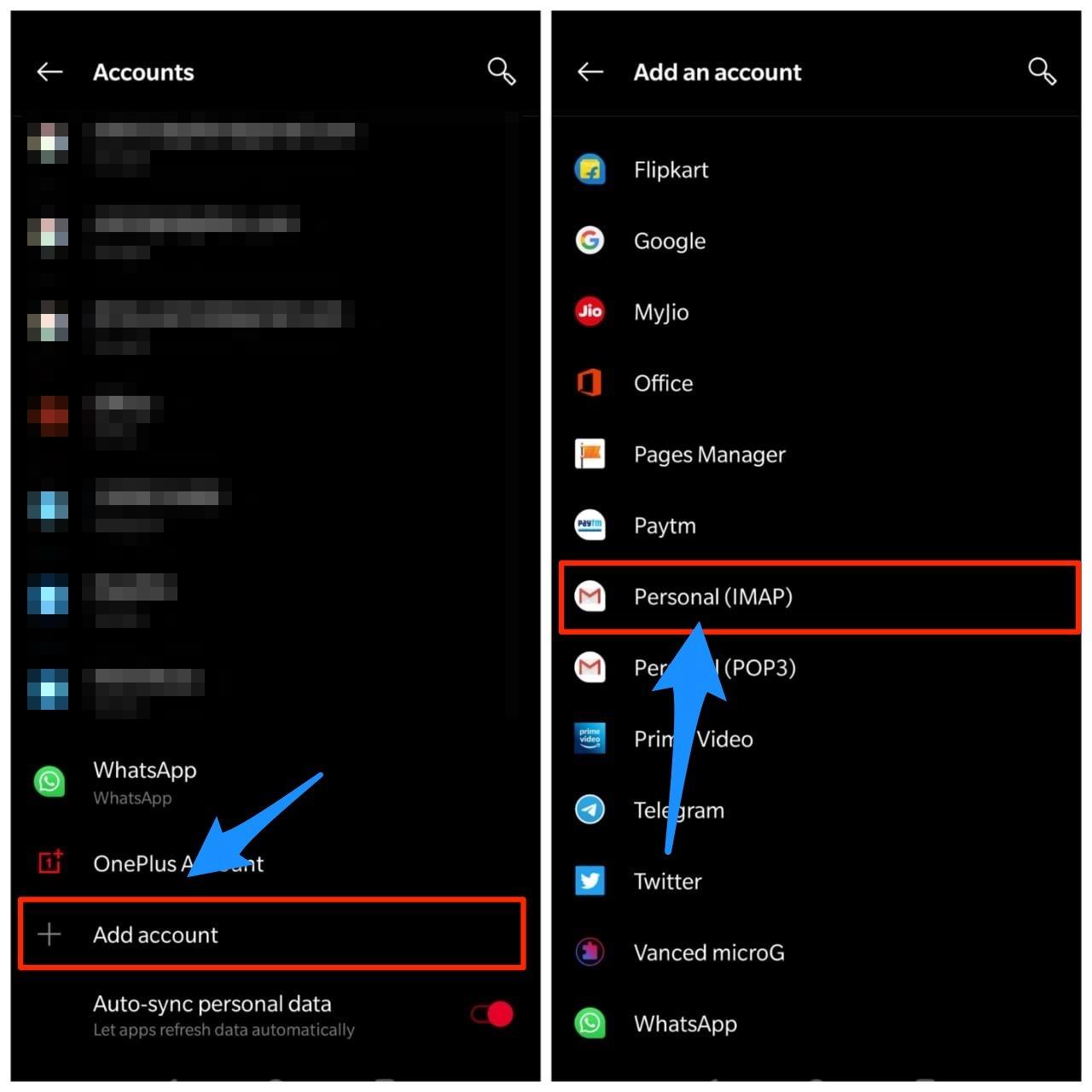 Add Account iCloud