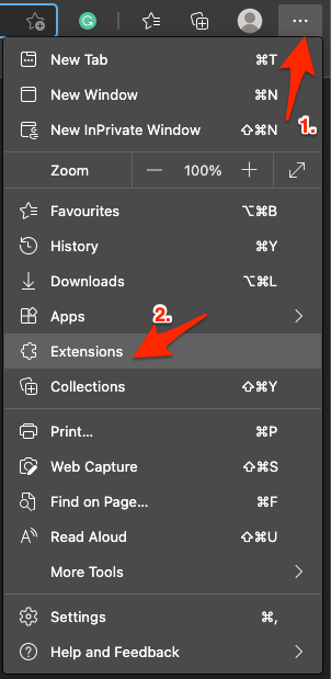 Add Extensions Settings