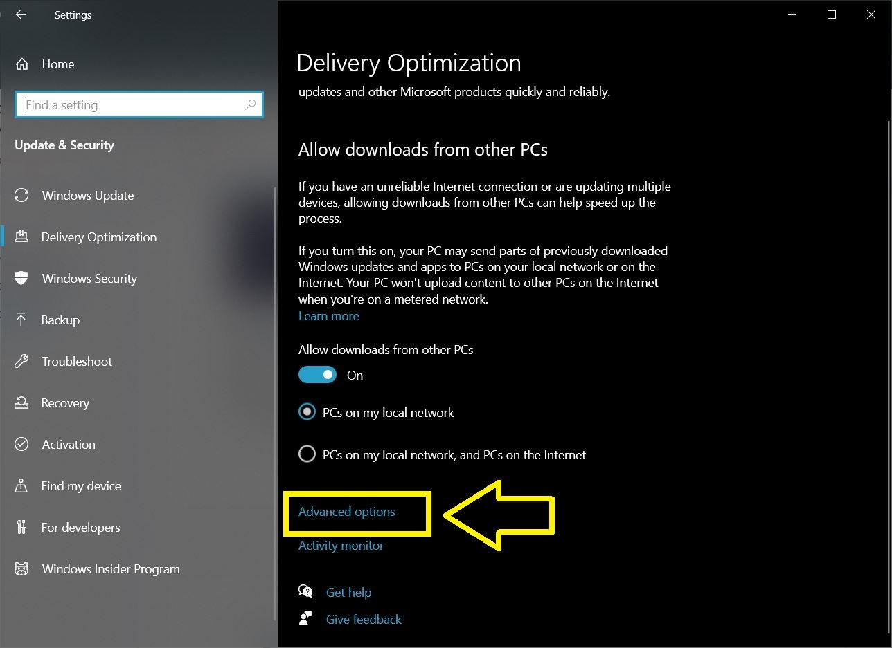 Advanced Options Delivery Optimization