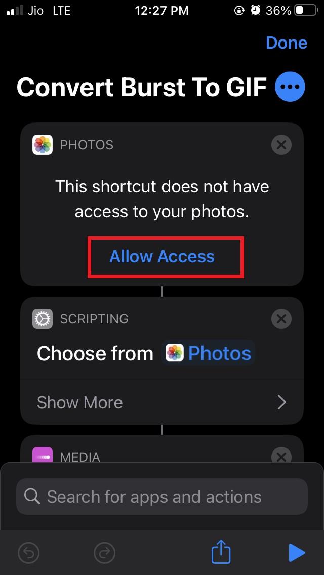 Allow Photo Access