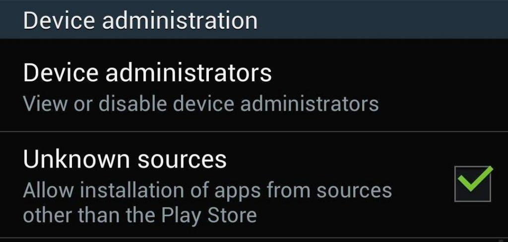 Allow Installation Apps Unknown Sources