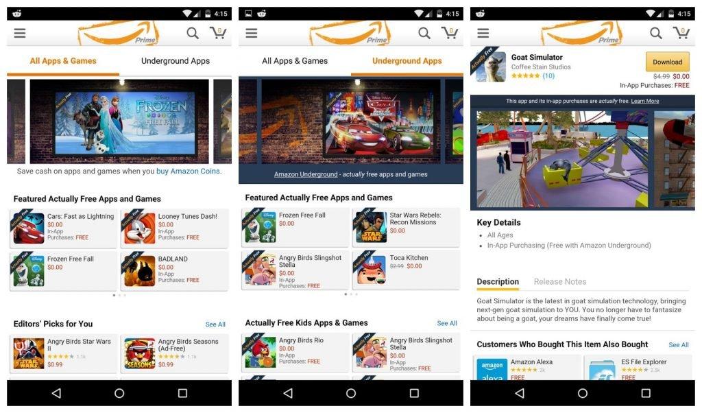 Amazon Underground App Store
