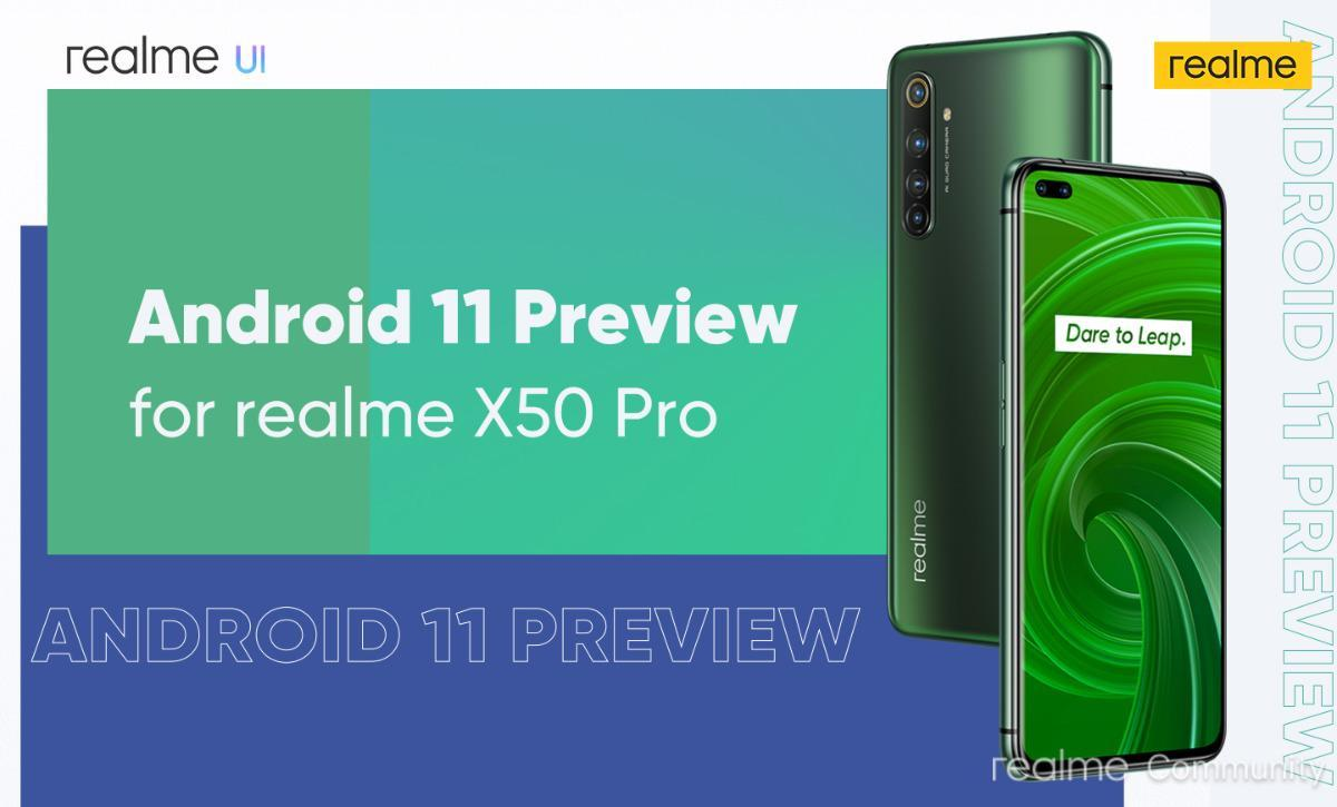 Android 11 on Realme X50