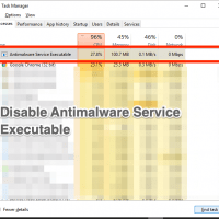 Disable Antimalware Service Executable