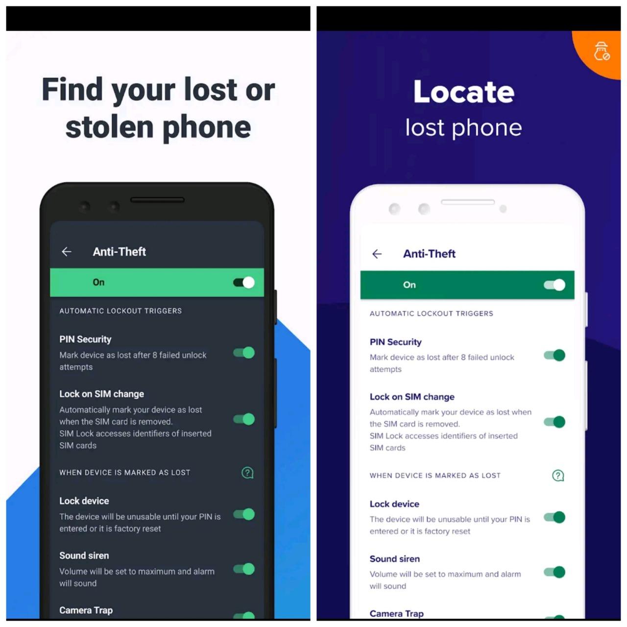 Avast Vs AVG Locate Phone