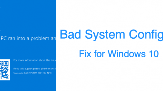 BAD-SYSTEM-CONFG-INFO Fix Windows 10