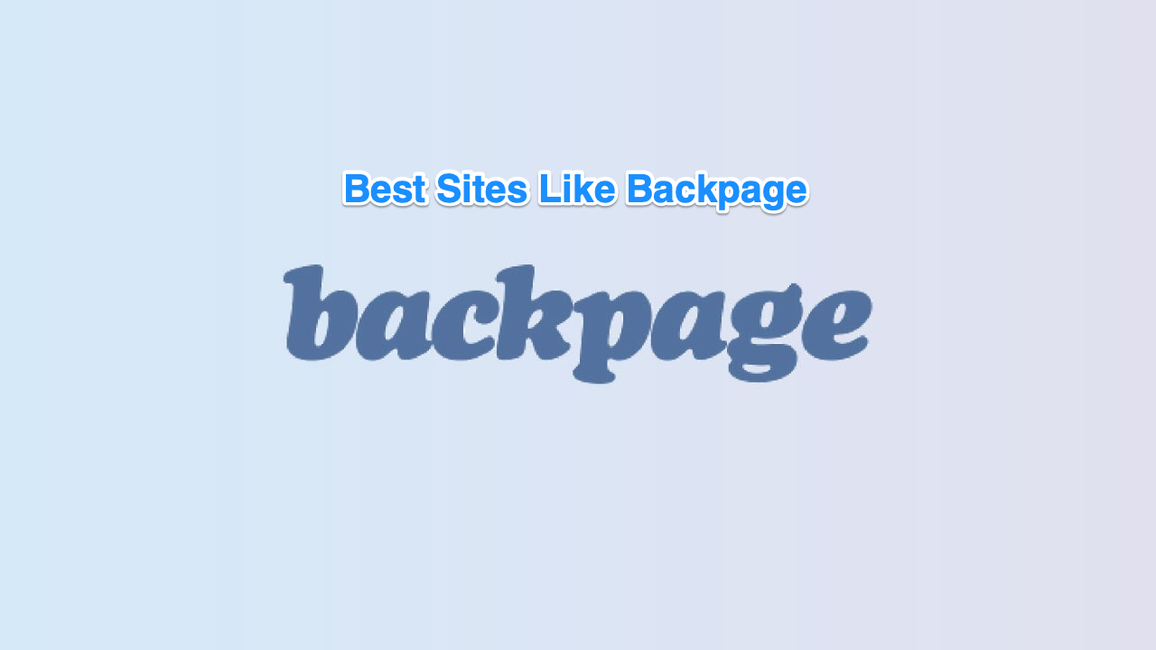 Backpage are like sites what other BackPageLocals