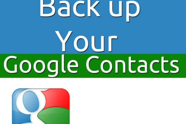 Backup Restore Contacts to Gmail Google Account
