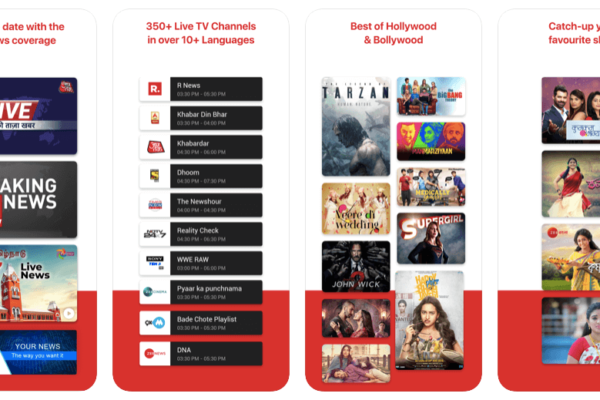 Best Indian Live TV Apps Android and iOS