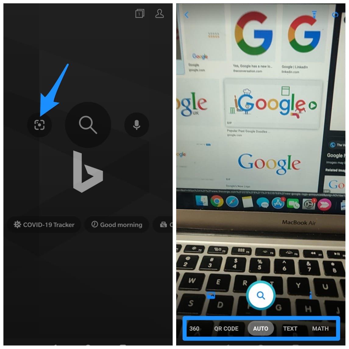 Bing Mobile App Interface