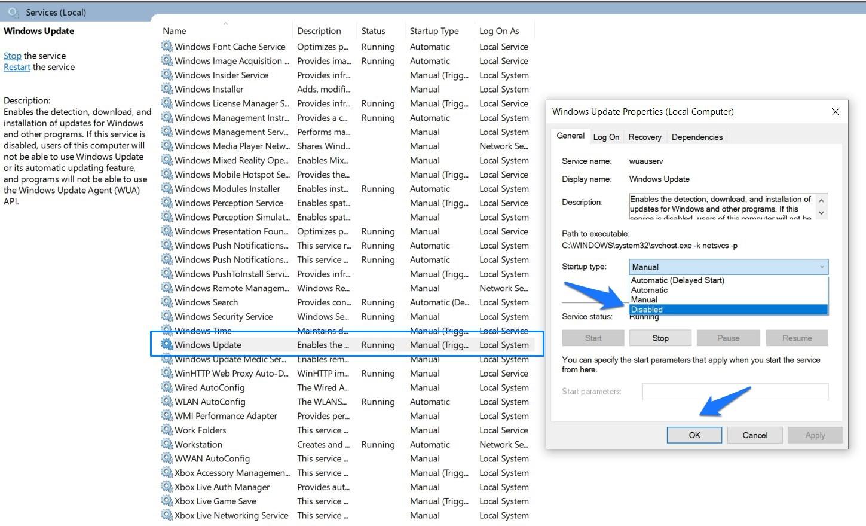 Block Windows System Update