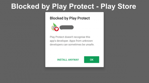 Blocked by Play Protect - Play Store