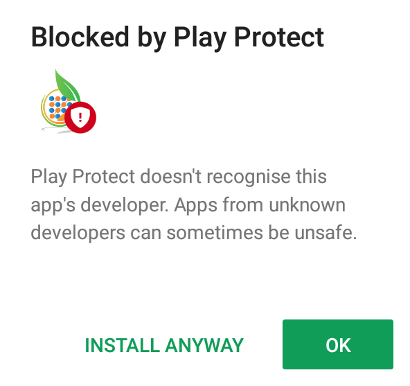 Blocked by Play Protect