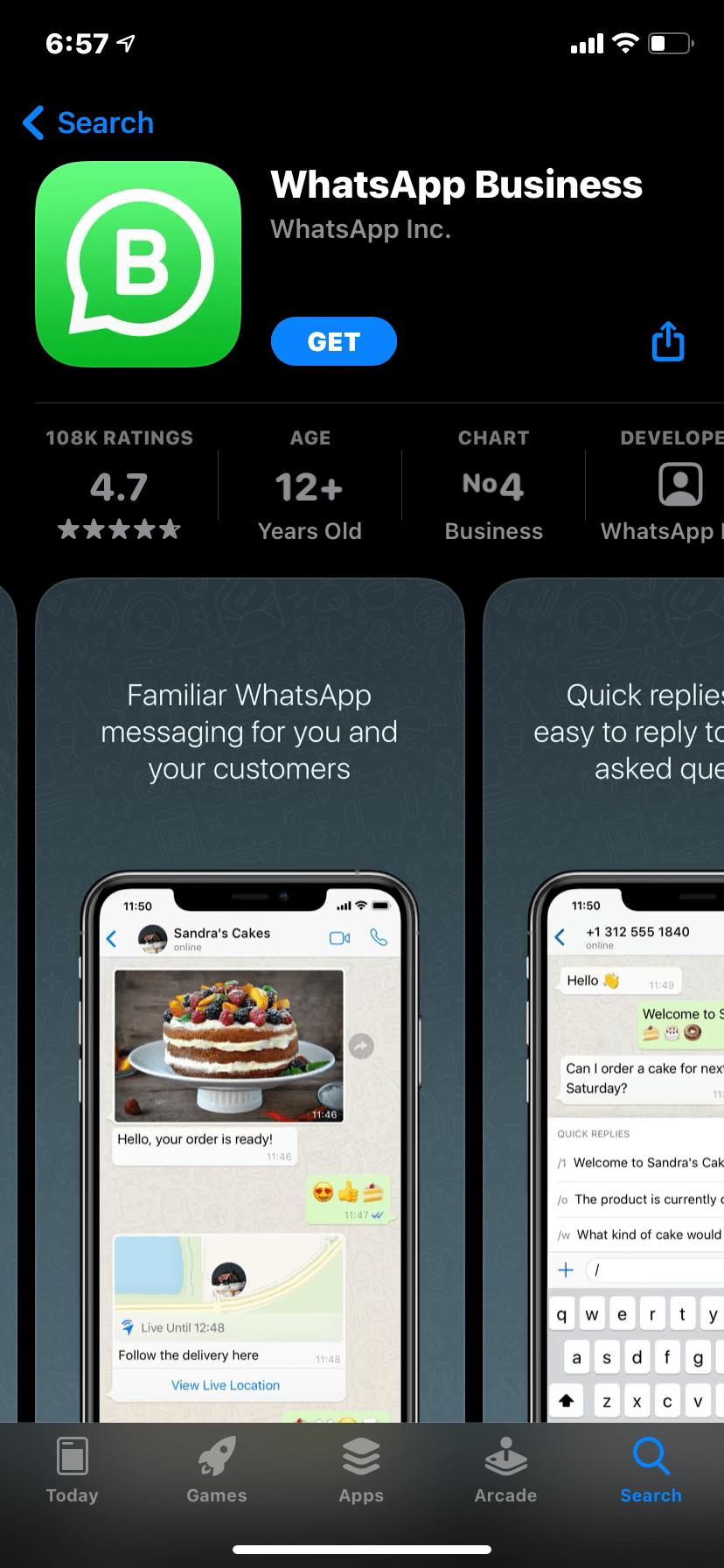 Busniess App for iOS
