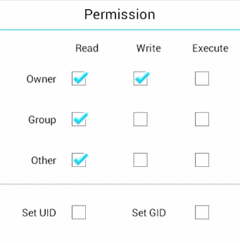 Change Permission and enter OK