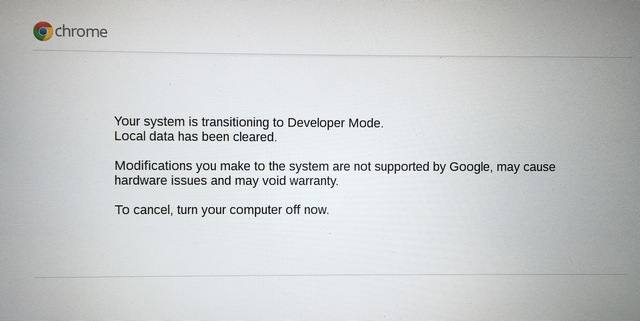 Chrome Developer Mode
