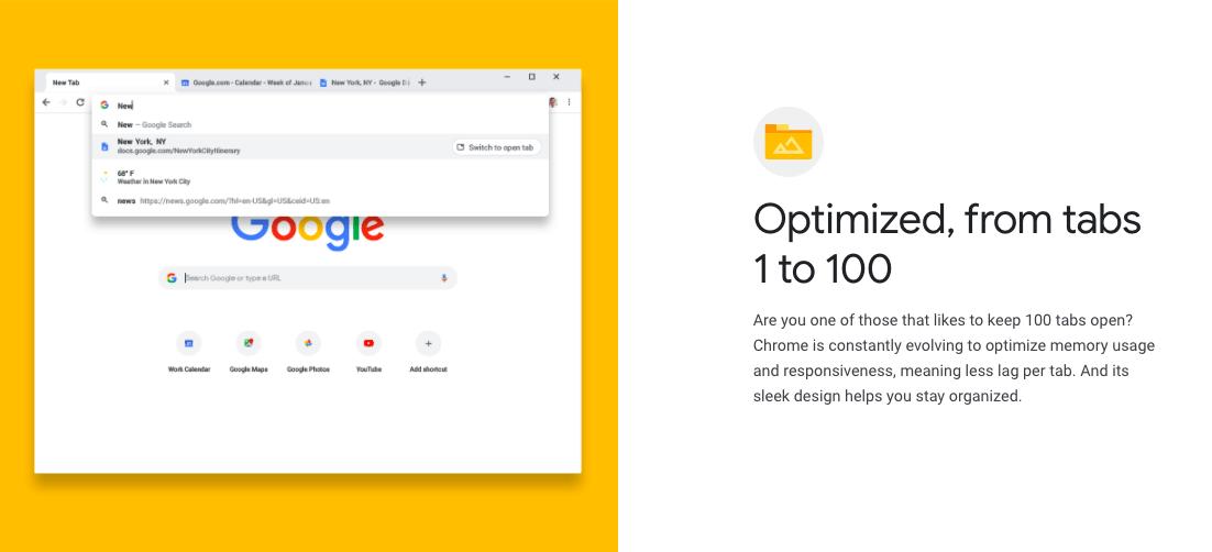 Chrome Web Features