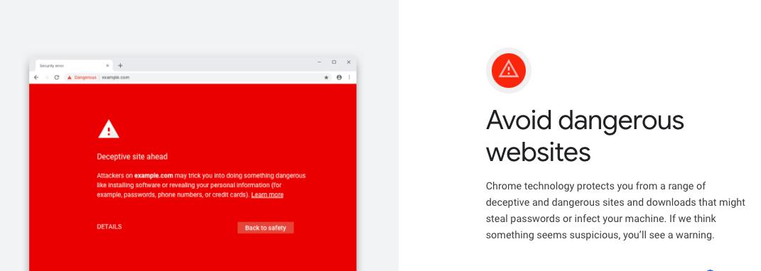 Chrome Web Security