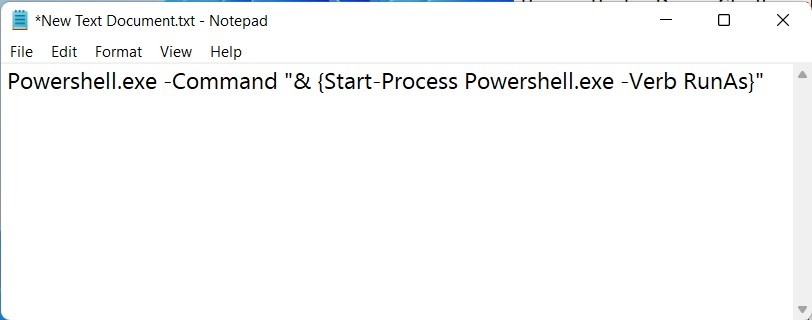 Command to Open PowerShell as Administrator