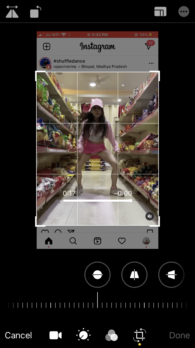 Crop the Screen to Record