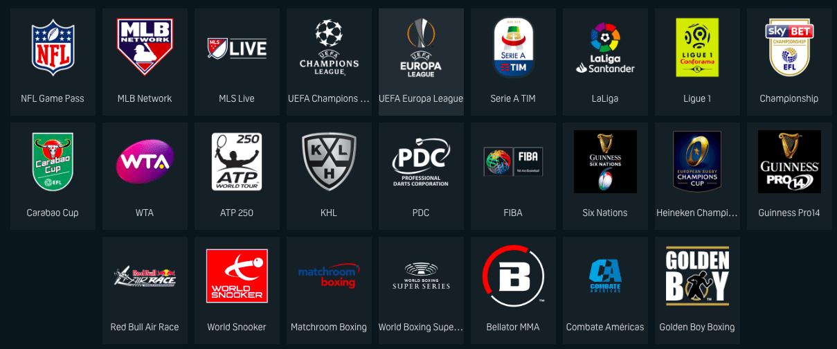 DAZN VOD Sports