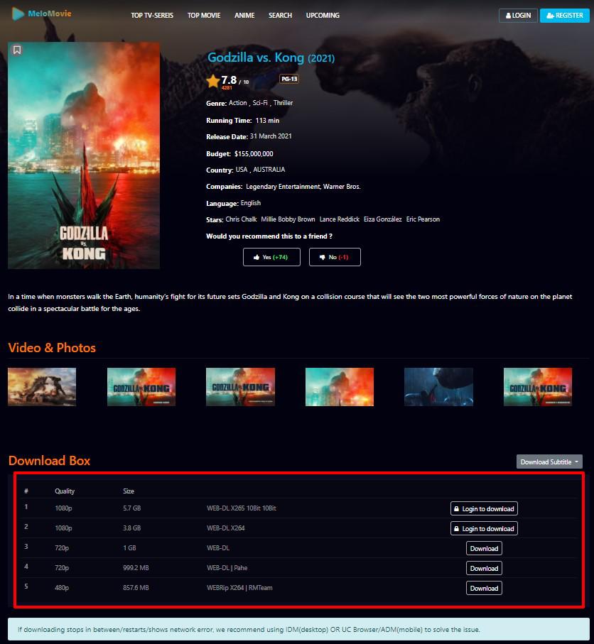 DOwnload Movies Windows PC