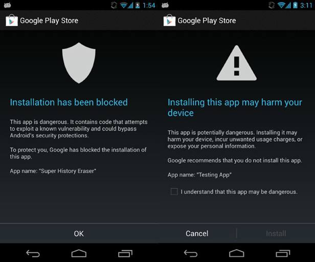 Dangerous App Blocked by Google