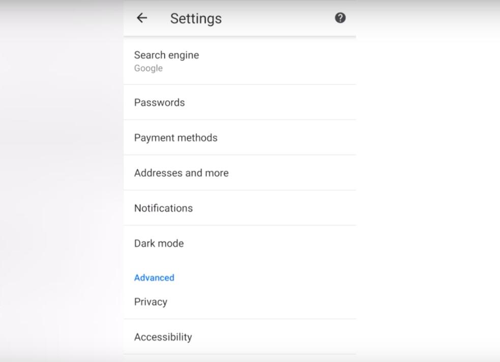 Dark Mode Option in settings