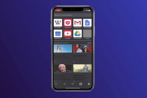 Dark Mode Browser for iOS