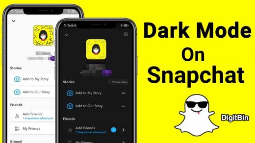 Dark Mode on Snapchat iPhone and iPad
