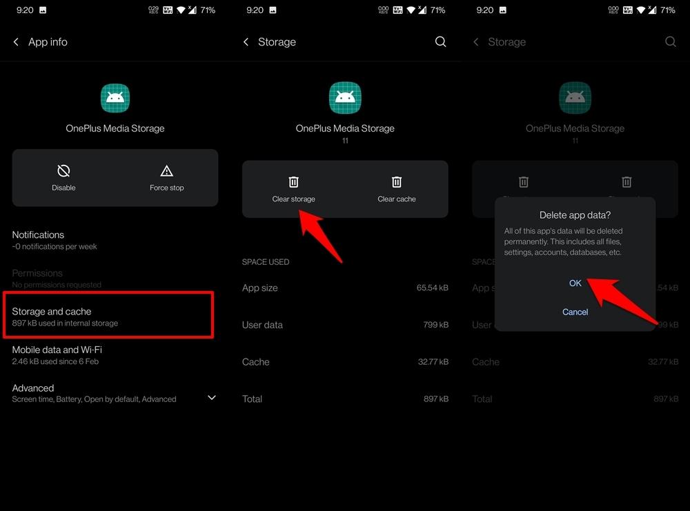 Delete App Data Internal Media Storage