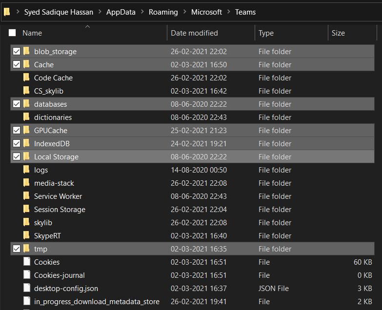 Delete Temporary Data