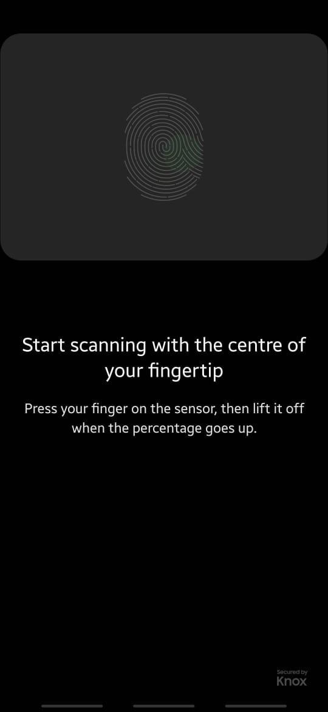Delete older fingerprints. Click on add fingerprint