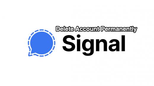 Delete Signal Account Permanent