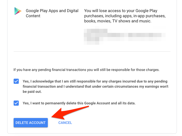 Delete your Google Account Permanently